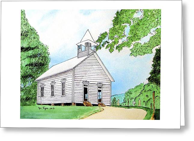 Cades Cove Church Greeting Card by Lynn Ingram