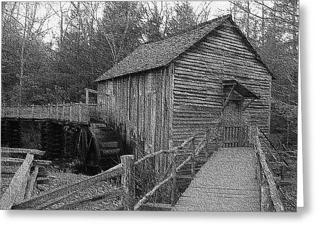 Grist Mill Greeting Cards - Cades Cove grist mill in Cades Cove Greeting Card by Steve Carpenter
