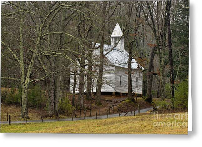Cades Cove Methodist Church - D007905 Greeting Card by Daniel Dempster