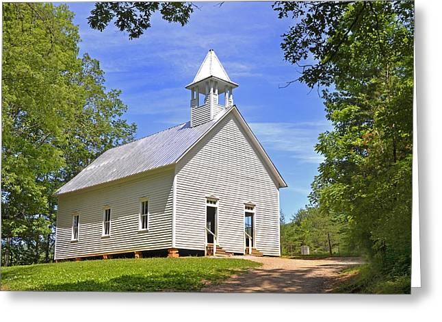 Cades Cove Methodist Church Greeting Card by Paul Mashburn