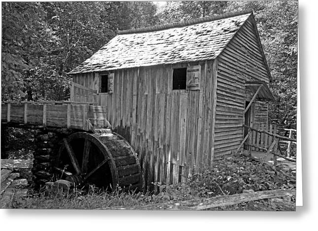Cades Cove Mill Greeting Card by Robert Clayton