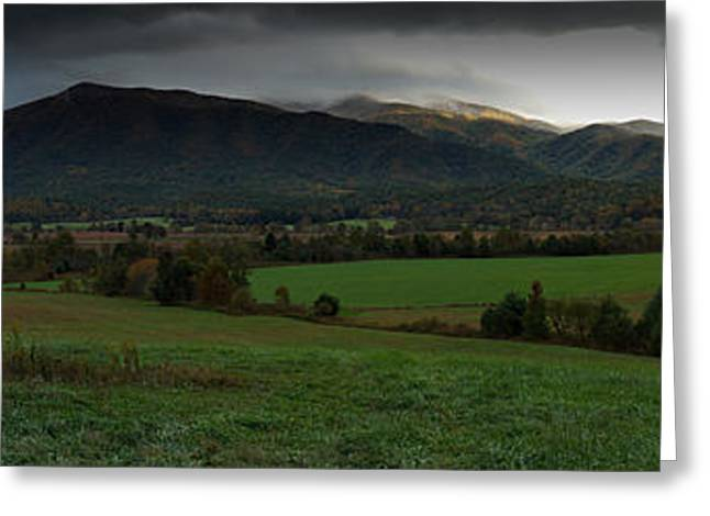 Cades Cove Panoramic Greeting Card
