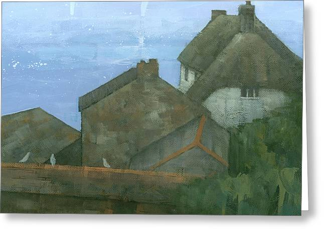Cadgwith Rooftops Greeting Card by Steve Mitchell