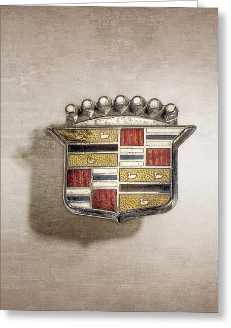 Cadillac Badge Greeting Card by YoPedro
