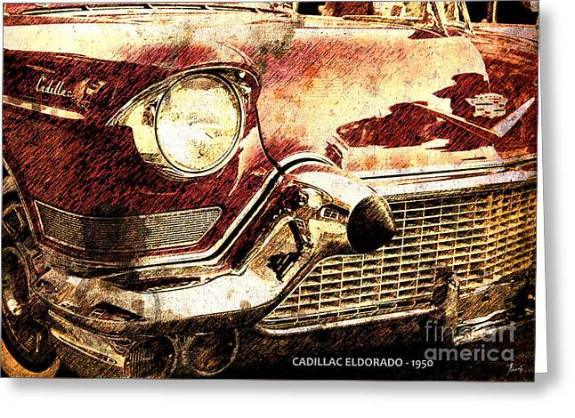Cadillac Eldorado 1950 Greeting Card