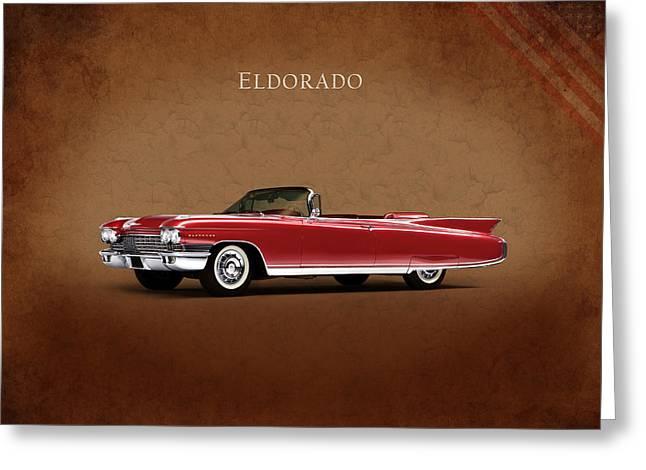 Cadillac Eldorado 1960 Greeting Card by Mark Rogan