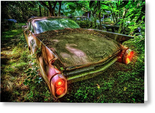 Cadillac In The Woods Greeting Card