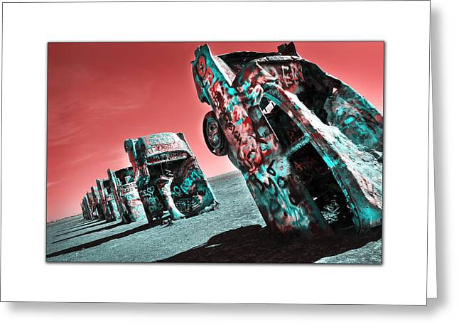 Cadillac Ranch-2010 Greeting Card by Anthony Manfredo