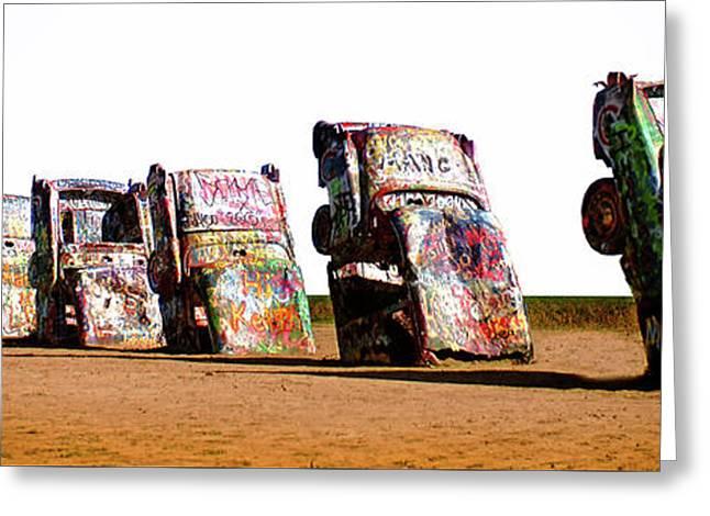 Cadillac Ranch 3 Greeting Card by Bob Christopher