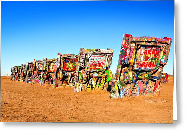 Cadillac Ranch Greeting Card by Edwin Verin