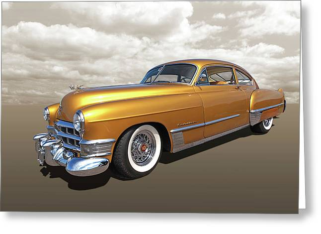 Cadillac Sedanette 1949 Greeting Card by Gill Billington