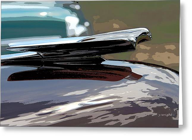 Cadillac La Salle - 1949 Hood Ornament Greeting Card