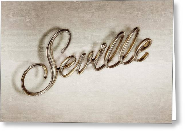Cadillac Seville Emblem Greeting Card by YoPedro