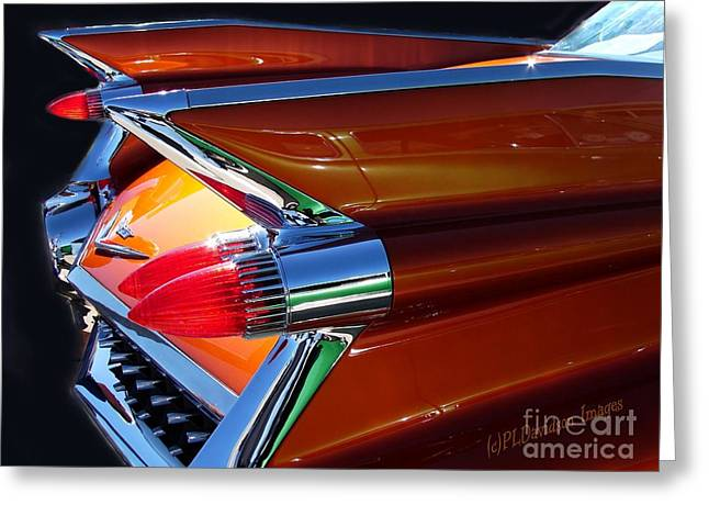 Greeting Card featuring the photograph Cadillac Tail Fin View by Patricia L Davidson