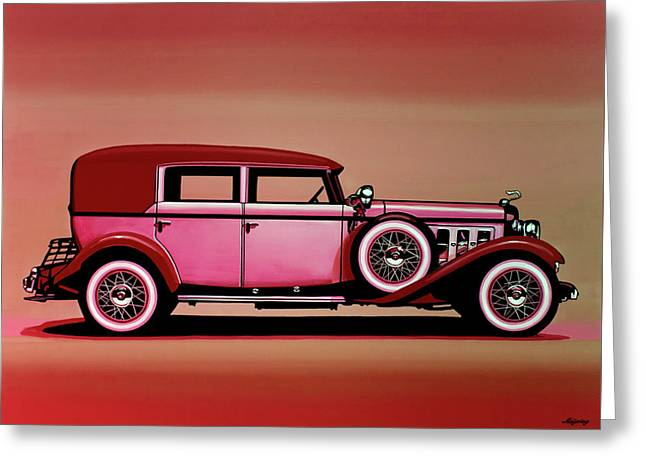 Cadillac V16 Mixed Media Greeting Card by Paul Meijering