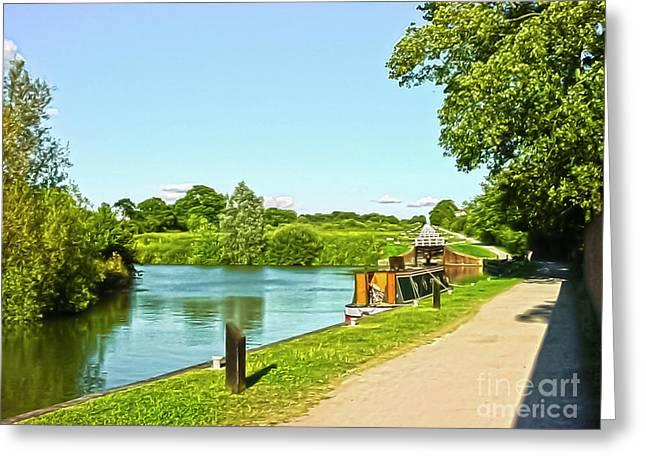 Caen Hill Locks Greeting Card