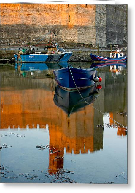 Caernarfon Reflections Greeting Card