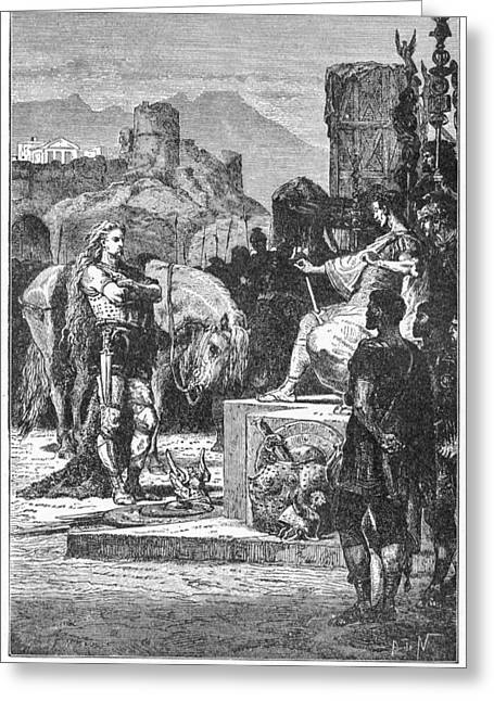 Caesar And Vercingetorix Greeting Card