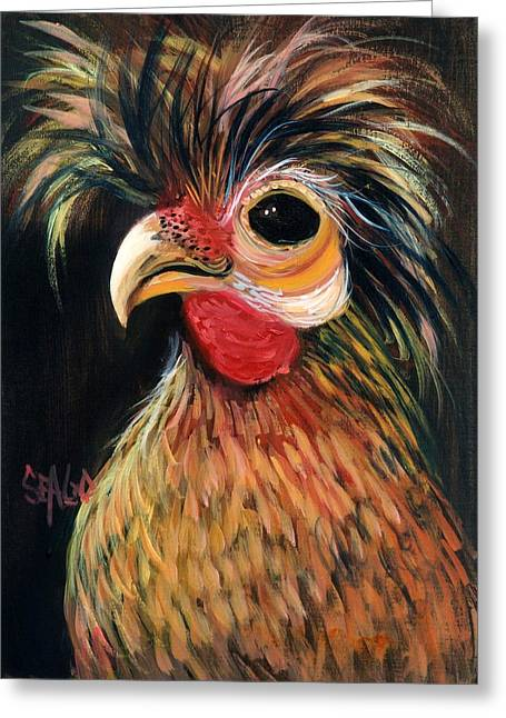 Caesar Greeting Card by Sally Seago