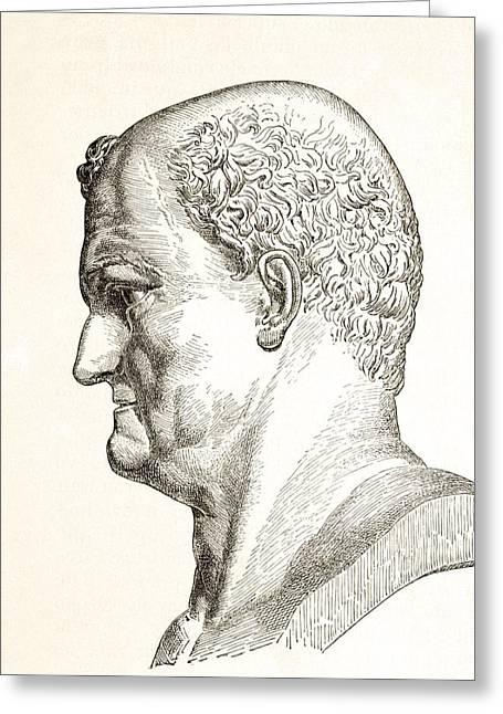 Caesar Vespasianus Augustus Or Titus Greeting Card by Vintage Design Pics