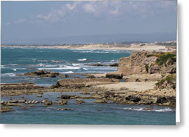 Caesarea Seascape Israel Greeting Card