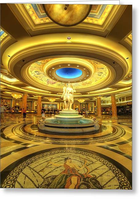 Caesars Palace Greeting Cards - Caesars Grand Lobby Greeting Card by Yhun Suarez