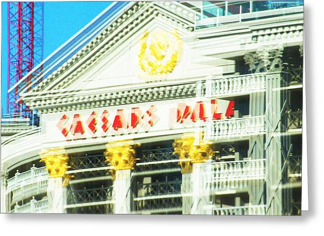 Caesar's Palace Hung Over View Greeting Card by Richard Henne