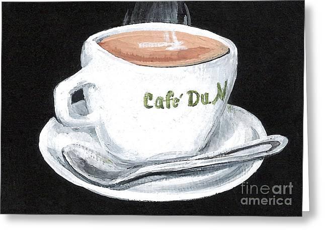 Cafe Au Lait Greeting Card by Elaine Hodges