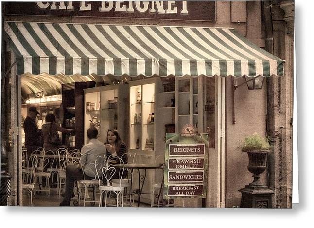 Cafe Beignet 2 Greeting Card by Jerry Fornarotto