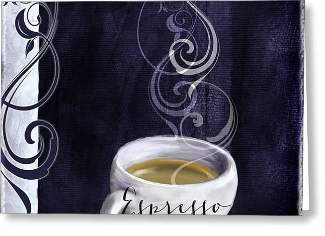 Cafe Blue Iv Greeting Card