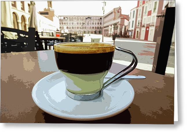 Cafe Bombon Greeting Card