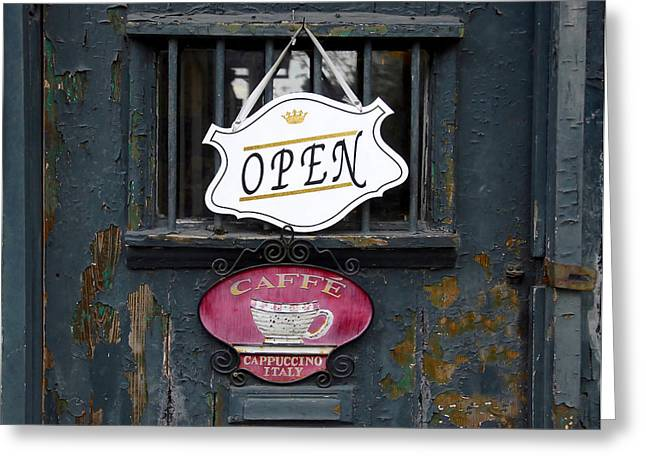 Cafe Cappuccino Greeting Card by David Lee Thompson