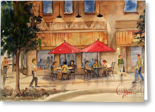 Cafe Chocolate Greeting Card