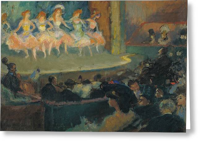 Cafe Concert Greeting Card by Ricard Canals