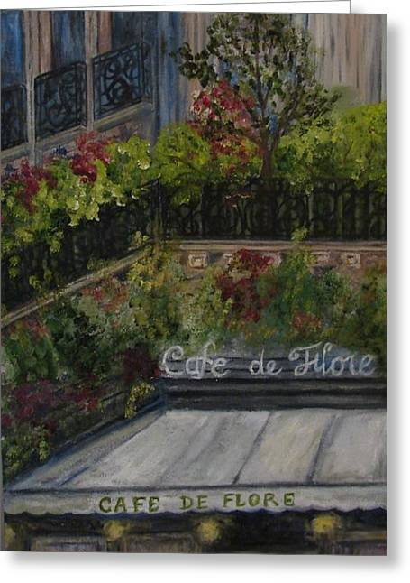 Cafe De Flore Greeting Card by Shiana Canatella