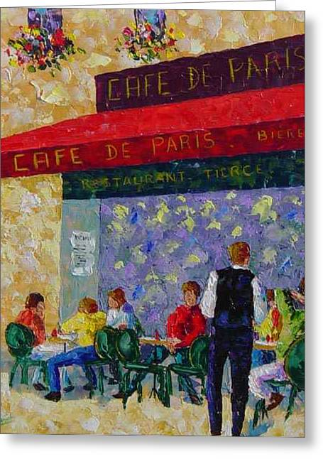 Cafe De Paris France Greeting Card