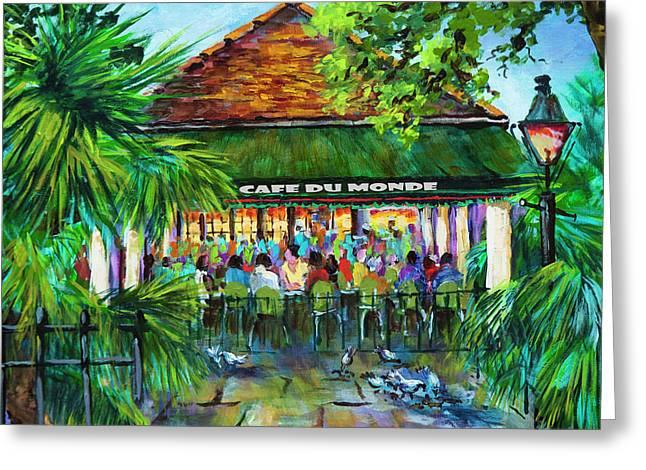 Cafe Du Monde Morning Greeting Card