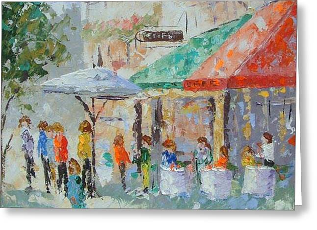 Cafe Du Quartier Latin Paris France Greeting Card