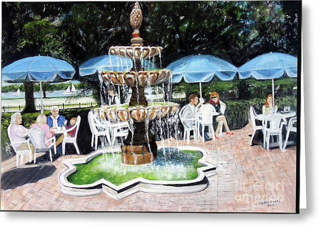 Cafe Gallery Greeting Card