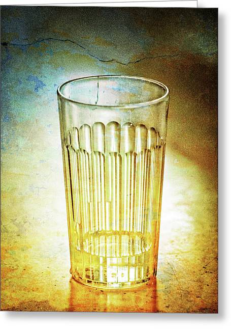 Cafe Glass Greeting Card by Brenda Bryant
