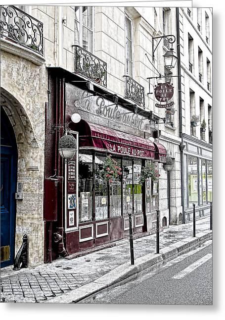 Cafe In Paris Greeting Card by J Pruett