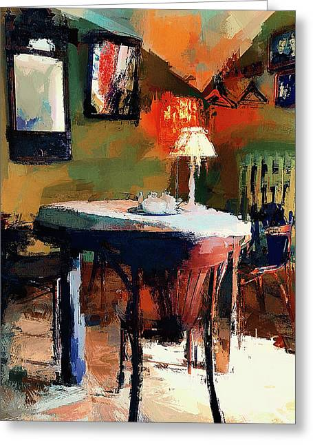 Cafe Interior 2 Greeting Card by Yury Malkov