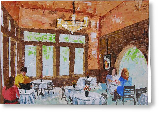 Cafe Intermezzo Atlanta Ga Usa Greeting Card