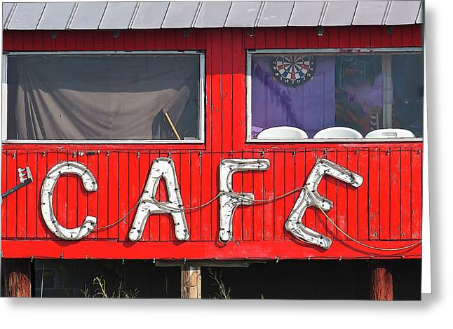 Greeting Card featuring the photograph Cafe by John Hix