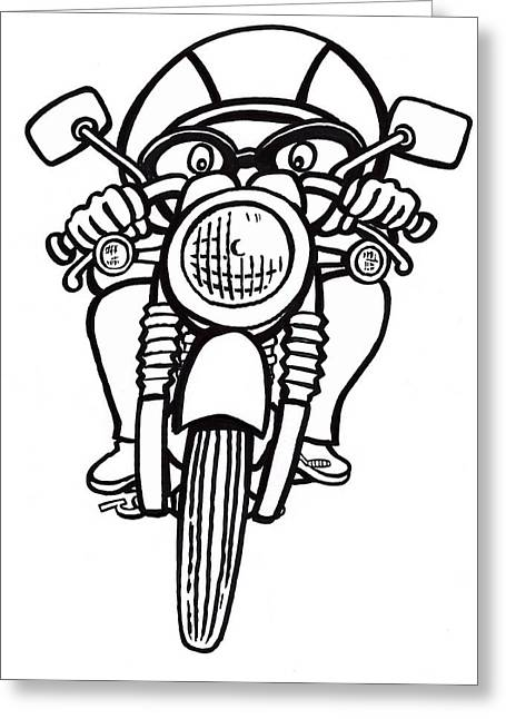 Cafe Racer 2 Greeting Card by Scott Nelson