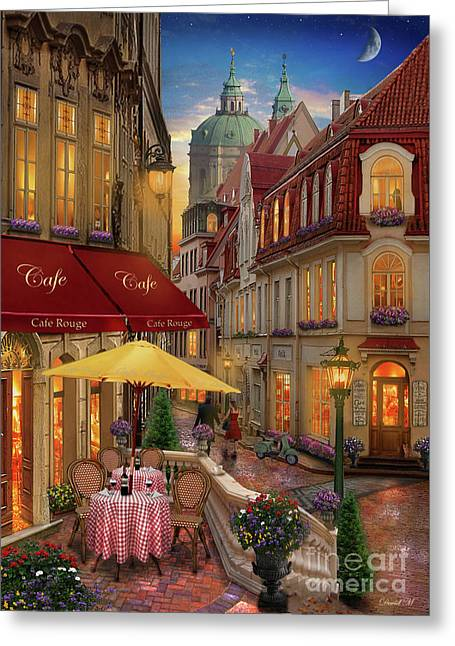 Cafe Rouge Greeting Card by MGL Meiklejohn Graphics Licensing