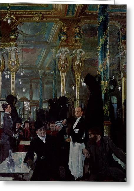 Cafe Royal, London, 1912 Greeting Card by Sir William Orpen