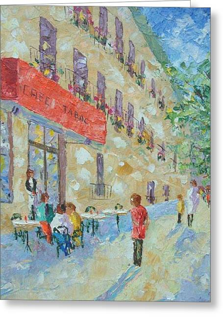 Cafe St Germain Paris France Greeting Card
