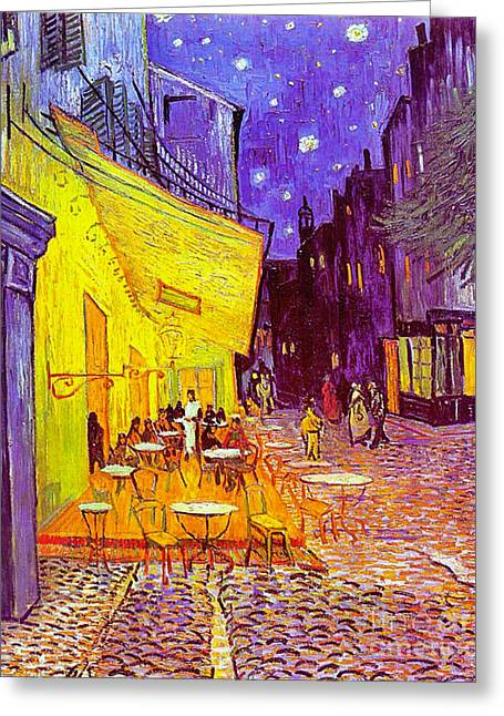 Cafe Terrace 1888 Greeting Card by Padre Art