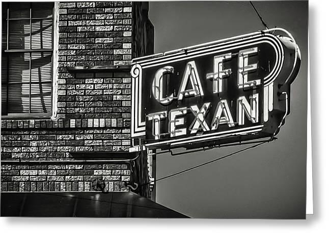 Cafe Texan Greeting Card